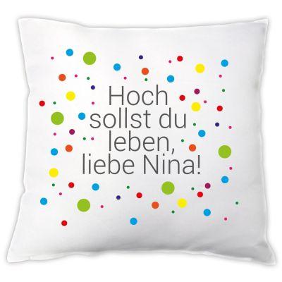 """Kissen """"Hoch sollst Du leben"""" - personalisiert"""