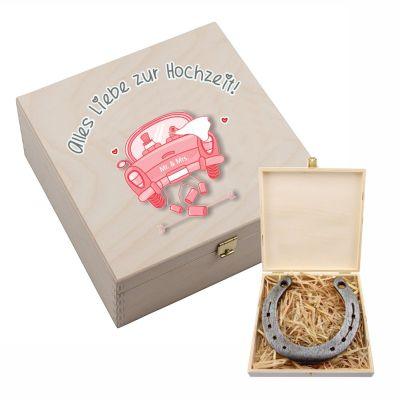 """Hufeisen-Box """"Alles Liebe zur Hochzeit"""" (Auto)"""