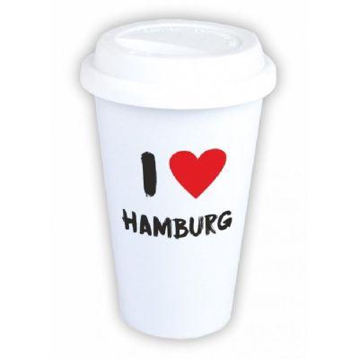 "Coffee-to-go Becher ""I ♥ Hamburg"""