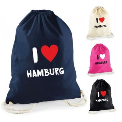 """Statement-Turnbeutel """"I ♥ Hamburg"""""""
