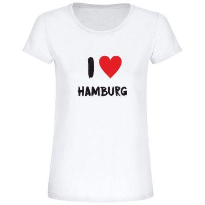 "T-Shirt ""I love Hamburg"" - Damen"