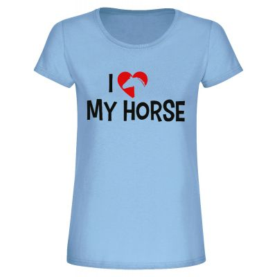 "T-Shirt ""I love my horse"" - Damen"
