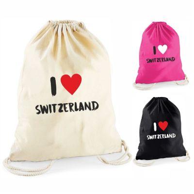 """Statement-Turnbeutel """"I ♥ Switzerland"""""""