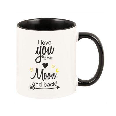 """Tasse """"I love you to the moon and back!"""""""