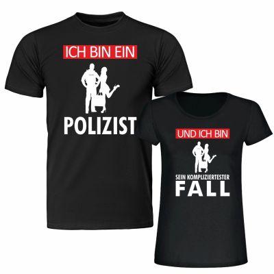 """T-Shirt SET """"Ich bin ein Polizist"""" & """"Und ich bin sein kompliziertester Fall"""""""