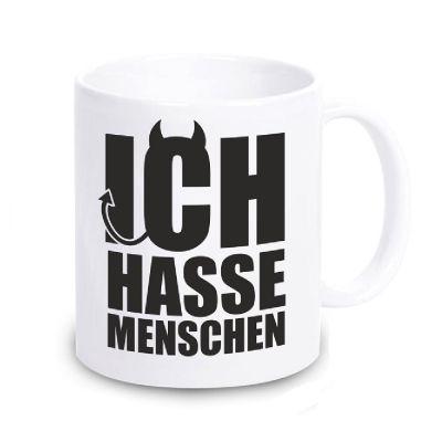 """Tasse """"Ich hasse Menschen"""" (Teufel)"""