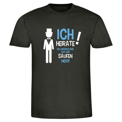 """T-Shirt """"Ich heirate!"""" - Herren"""