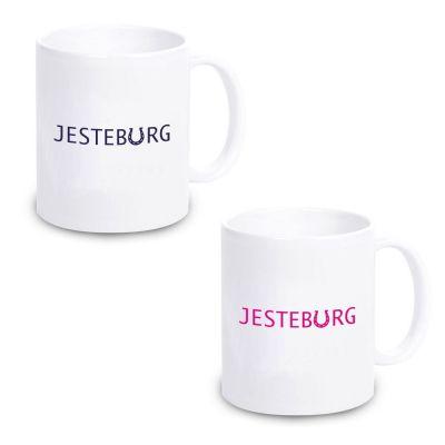 """Tasse """"Jesteburg"""" (Design: pink oder blau)"""