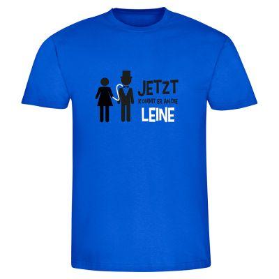 """T-Shirt """"Jetzt kommt er an die Leine - Bräutigam"""" - Herren"""