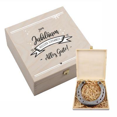 """Hufeisen-Box """"Zum Jubiläum Alles Gute"""""""