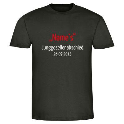"T-Shirt ""Sein Junggesellenabschied"" - personalisiert - Herren"