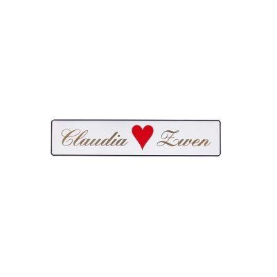 Kennzeichen zur Hochzeit - personalisiert