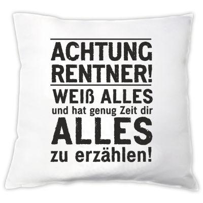 """Kissen """"Achtung Rentner!"""""""