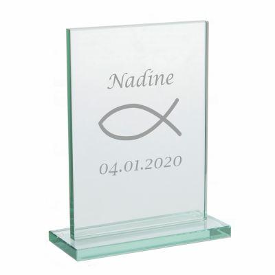 Glaspokal zur Konfirmation - personalisiert