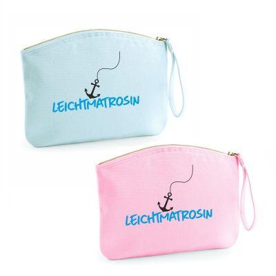 "Kulturtasche ""Leichtmatrosin"" (Farbe: rosa oder hellblau)"