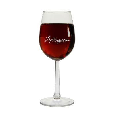 """Weinglas """"Lieblingswein"""""""