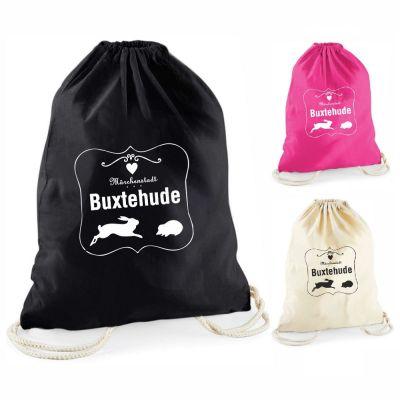 """Statement-Turnbeutel """"Märchenstadt Buxtehude"""" (mit Rahmen)"""