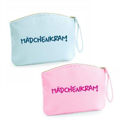 """Kulturtasche """"Mädchenkram"""" (Farbe: rosa oder hellblau)"""