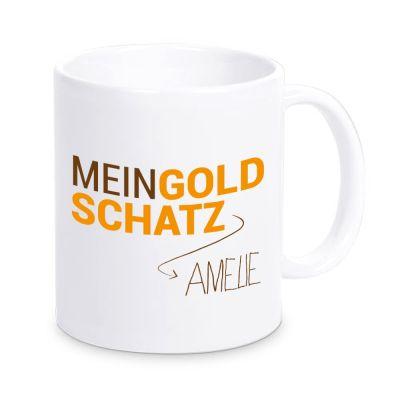 """Tasse """"Mein Goldschatz"""" mit Namen"""