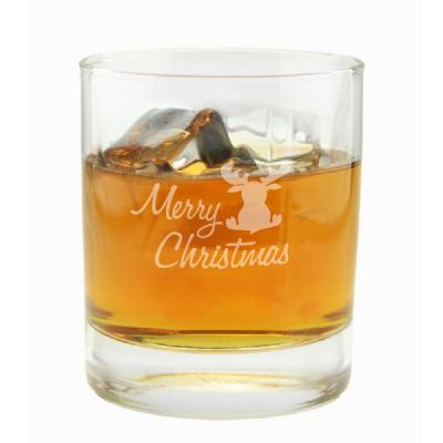 """Whiskyglas """"Merry Christmas"""" (Elch)"""