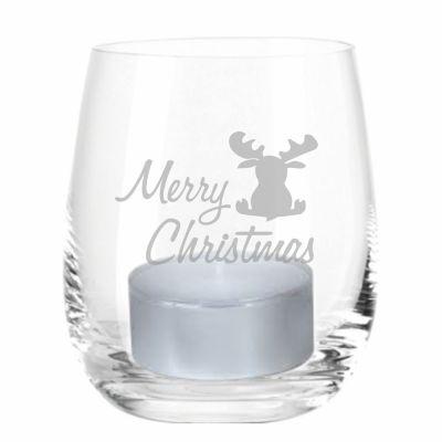 """Windlicht """"Merry Christmas"""" (Elch)"""