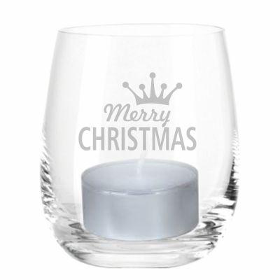 """Windlicht """"Merry Christmas"""" (Krone)"""