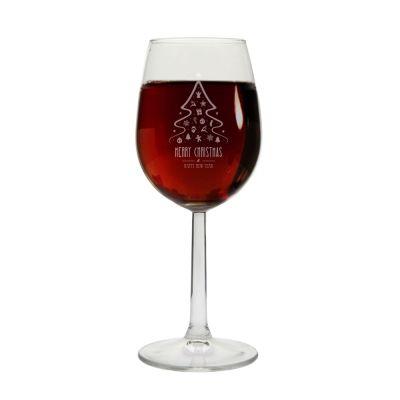 "Weinglas ""Merry Christmas"" (Tannenbaum)"