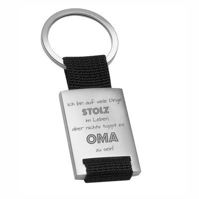 """Metall-Schlüsselanhänger """"Nichts toppt es Oma zu sein"""""""