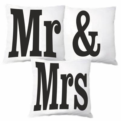 """3er Kissen Set """"Mr & Mrs"""""""