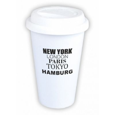 "Coffee-to-go Becher ""New York, London, Paris, Tokyo, Hamburg"""