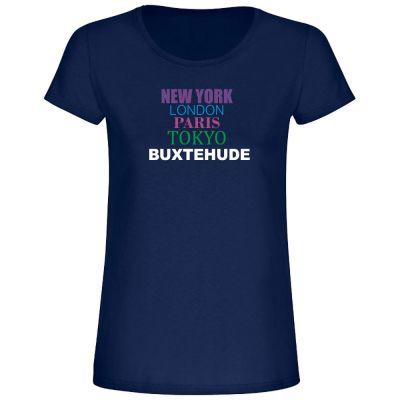 """T-Shirt New York, London, Buxtehude"""" - Damen"""