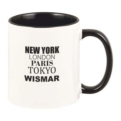 "Tasse ""New York, London, Paris, Tokyo, Wismar"""