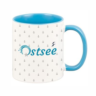 """Tasse """"Ostsee"""" mit kleinen Ankern"""