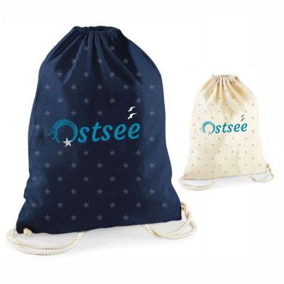 """Statement-Turnbeutel """"Ostsee"""" mit kleinen Seesternen"""