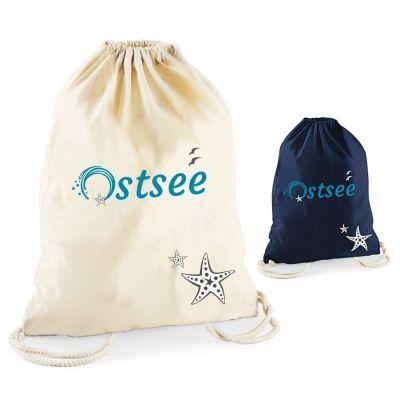 """Statement-Turnbeutel """"Ostsee"""" mit Seestern"""