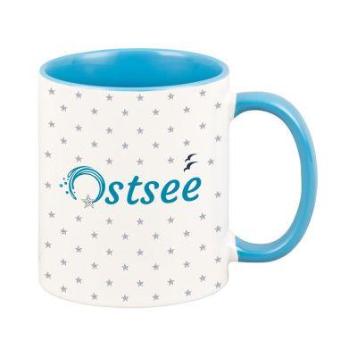"""Tasse """"Ostsee"""" mit kleinen Seesternen"""