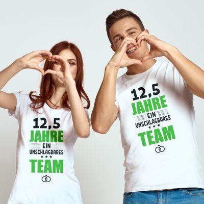 """T-Shirt SET """"12,5 Jahre - ein unschlagbares Team"""""""