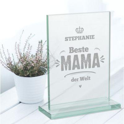 """Glaspokal """"Beste Mama der Welt"""" - personalisiert"""