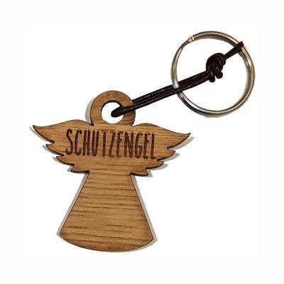 """Schlüsselanhänger aus Holz """"Schutzengel"""" (Engel)"""