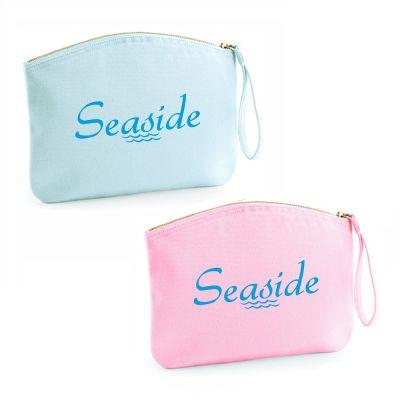 "Kulturtasche ""Seaside"" (Farbe: rosa oder hellblau)"