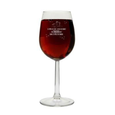 """Weinglas """"Sei immer Du selbst, ausser Du kannst ein Einhorn sein, dann sei immer ein Einhorn!"""""""