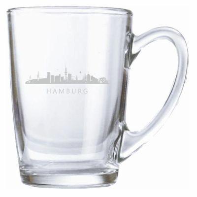 """Teeglas """"Skyline Hamburg"""""""
