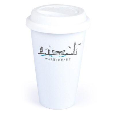 "Coffee-to-go Becher ""Skyline Warnemünde"""
