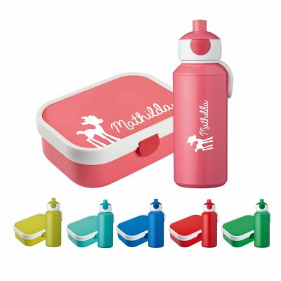 "Set ""Bambi"" - Brotdose & Trinkflasche - personalisiert"