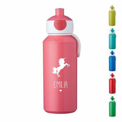 """Trinkflasche """"Einhorn Silhouette"""" - personalisiert"""