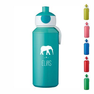 """Trinkflasche """"Elefant Silhouette"""" - personalisiert"""