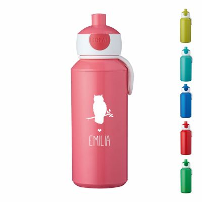 "Trinkflasche ""Eule Silhouette"" - personalisiert"