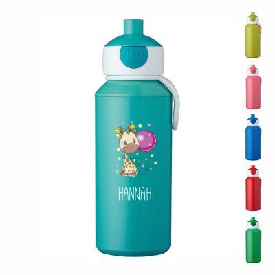 """Trinkflasche """"Giraffe"""" - personalisiert"""