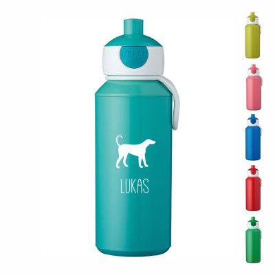 """Trinkflasche """"Hund Silhouette"""" - personalisiert"""