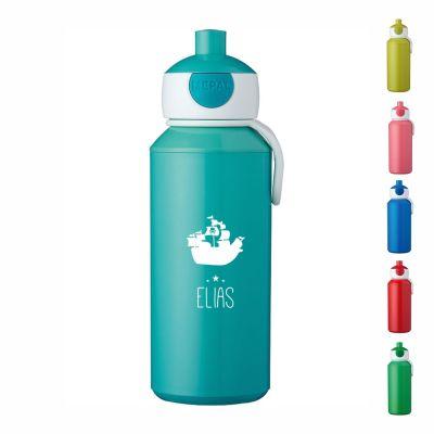 """Trinkflasche """"Schiff Silhouette"""" - personalisiert"""